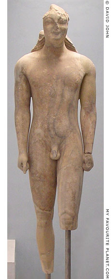 The Isches Kouros statue, 580 BC, Samos, Greece at My Favourite Planet