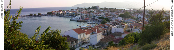 Panoramic view over the harbour of Pythagorio, on the southeast coast of Samos, Northern Aegean islands, Greece at My Favourite Planet