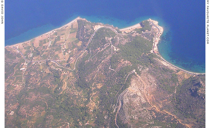 An aerial photo of the north coast of Samos around Kambos at My Favourite Planet