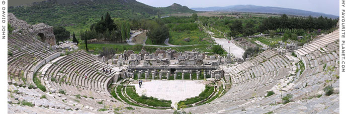 Panorama from the Ephesus Great Theatre, Turkey at My Favourite Planet