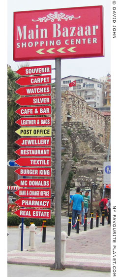 Direction signs at the Main Bazaar, Kusadasi, Turkey at My Favourite Planet