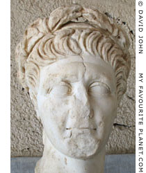 Portrait head of Emperor Trajan from Athens at My Favourite Planet