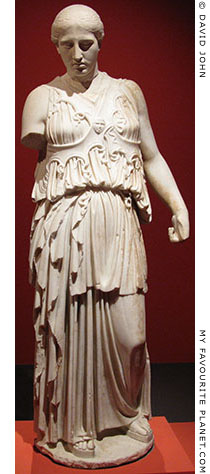 The statue of Athena with the cross-banded aegis from Pergamon in full length at My Favourite Planet