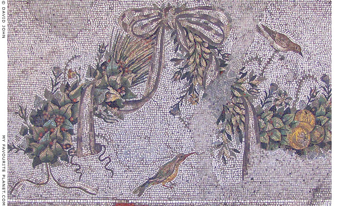 Detail of the mosaic floor from the Altar Room of Pergamon Palace V at My Favourite Planet