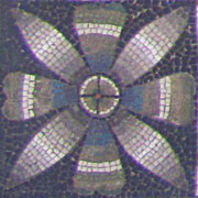 Floral corner emblem of the border of the floor mosaic of Pergamon Palace V at My Favourite Planet