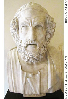 Bust of Homer in the Neues Museum, Berlin at My Favourite Planet