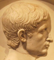 Relief portrait of Emperor Augustus