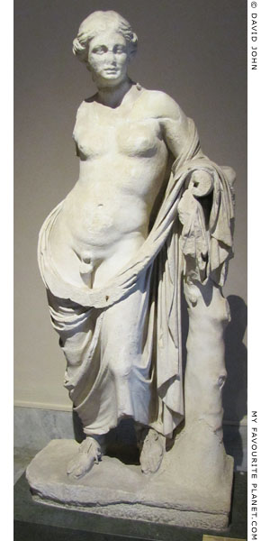 Marble statue of Hermaphroditus from Pergamon at My Favourite Planet