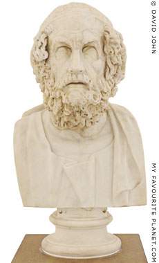 Bust of Homer in the Naples Museum, Italy at My Favourite Planet