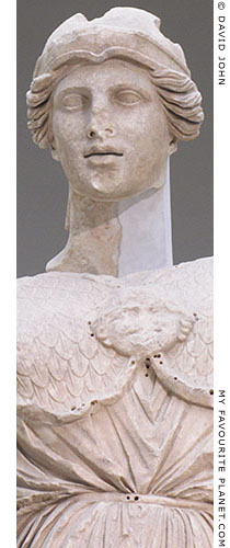 Detail of the Athena Parthenos statue from from the Library of Pergamon at My Favourite Planet