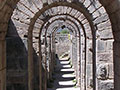 The arched tunnels beneath the Temple of Trajan, Pergamon Acropolis, Turkey at My Favourite Planet