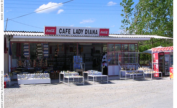 Cafe Lady Diana at the Asclepieion archaeological site, Bergama (Pergamon), Turkey at My Favourite Planet