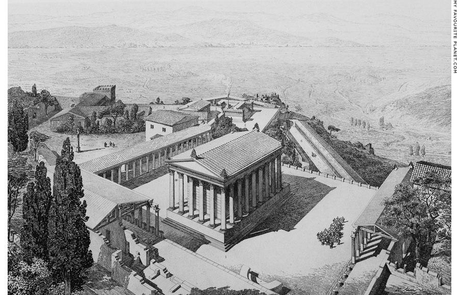 Reconstruction drawing of the Trajaneum, Pergamon at My Favourite Planet