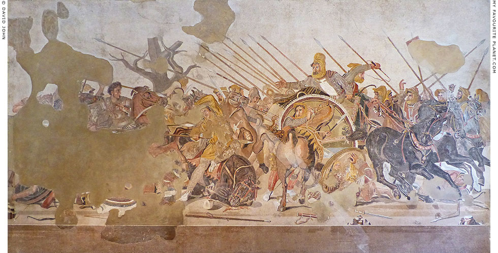 The Alexander Mosaic depicting a battle between Alexander the Great and King Darius III at My Favourite Planet