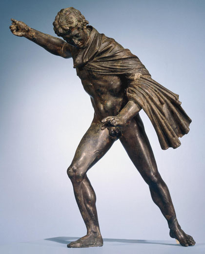 A bronze statuette of a huntsman, British Museum at My Favourite Planet