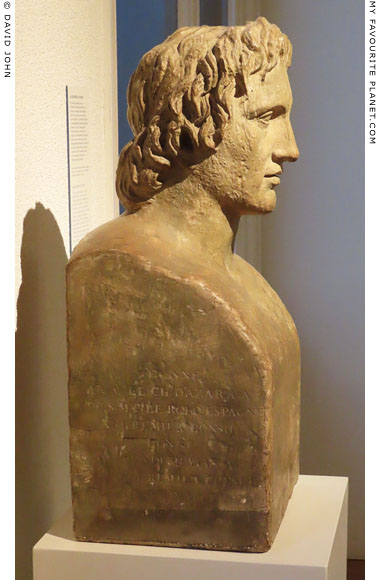 A plaster copy of the Azara Herm of Alexander the Great at My Favourite Planet