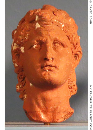 Ceramic head of Ptolemy I in the style of portraits of Alexander the Great at My Favourite Planet