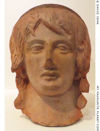 Terracotta votive head with features of Alexander the Great at My Favourite Planet