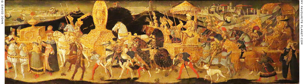 Darius marching to the Battle of Issus by the workshop of Apollonio di Giovanni at My Favourite Planet