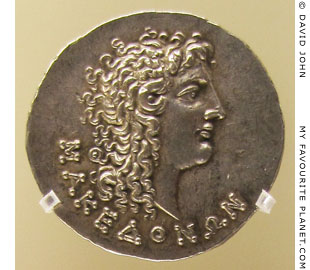 Alexander the Great on a silver tetradrachm of the Roman province of Macedonia at My Favourite Planet
