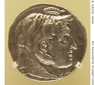 Alexander the Great on a silver tetradrachm of Ptolemy I of Egypt at My Favourite Planet