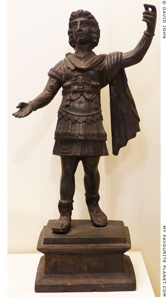 Statuette depicting Alexander the Great as a Roman general at My Favourite Planet