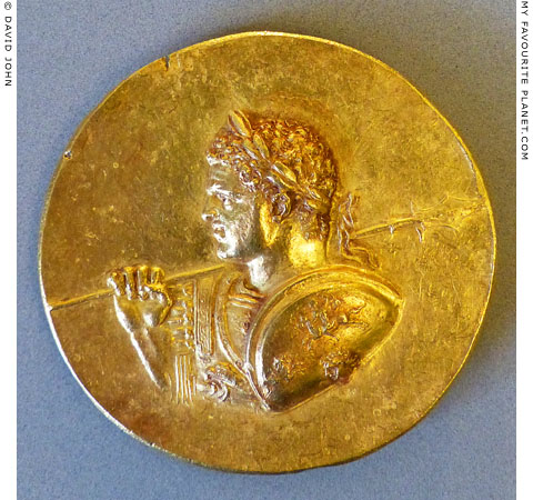 A bust of Emperor Caracalla on an Abukir medallion at My Favourite Planet