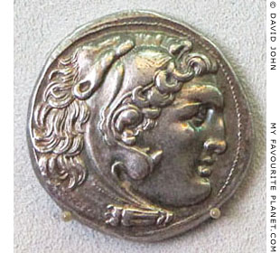 Alexander the Great as Herakles on a silver tetradrachm, Bode Museum, Berlin, Germany at My Favourite Planet