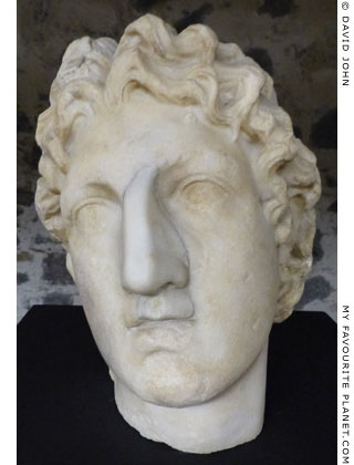 Marble head of Alexander the Great from Sicily at My Favourite Planet