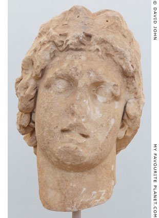 Marble head of Demetrios Poliorketes, Delos at My Favourite Planet