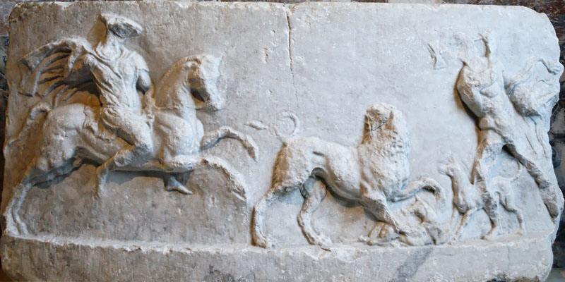 A Hellenistic hunting relief from Messene at My Favourite Planet