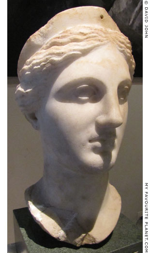 Head of a statue from Kyme thought to depict Artemis at My Favourite Planet