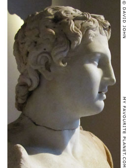 Head of the statue of Alexander the Great from Magnesia ad Sipylum in profile at My Favourite Planet
