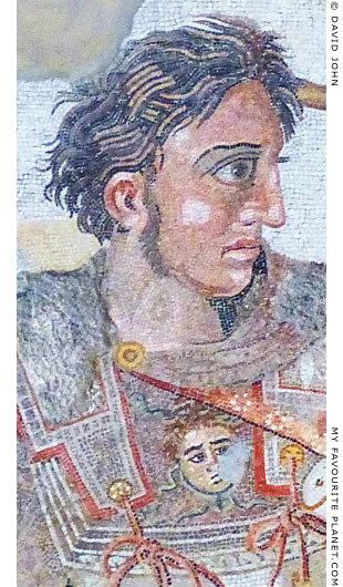 Alexander the Great in the mosaic from Pompeii at My Favourite Planet