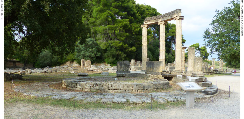 The partly reconstructed Philippeion at Olympia, Greece at My Favourite Planet