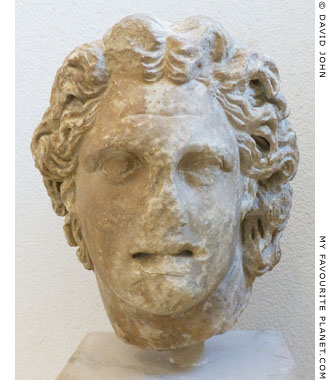 Marble head of Alexander the Great in Olympia at My Favourite Planet
