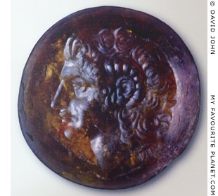 The Alexander Gem, the head of Alexander the Great wearing the ram's horns of Zeus Ammon at My Favourite Planet