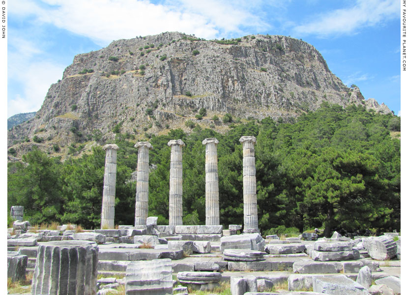 The ruins of the temple of Athena Polias, Priene at My Favourite Planet