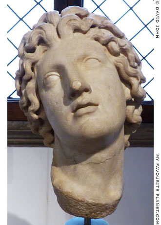 Marble head of Alexander the Great in the Barracco Museum, Rome at My Favourite Planet