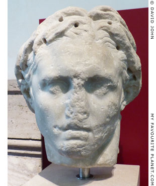 Marble head of Alexander the Great from Tivoli, Rome at My Favourite Planet