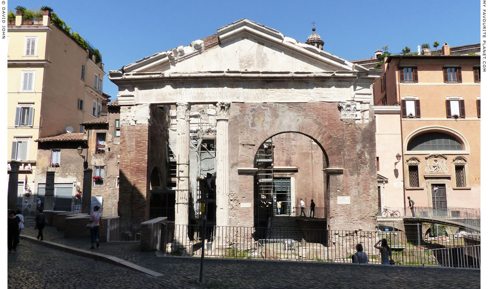 The remains of the Porticus Octaviae, Rome at My Favourite Planet