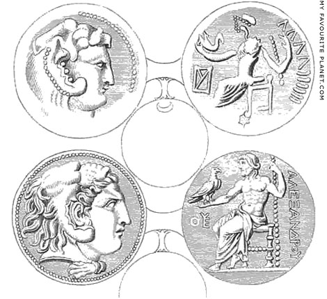 Coins of Alexander the Great by Nicholas Revett at My Favourite Planet