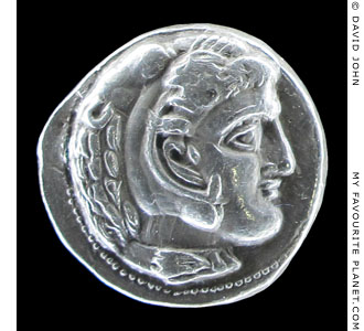 A silver tetradrachms of the Eastern Celts depicting Alexander the Great at My Favourite Planet