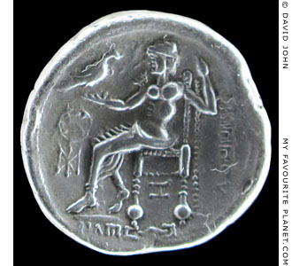 A silver tetradrachms of the Eastern Celts depicting Zeus at My Favourite Planet