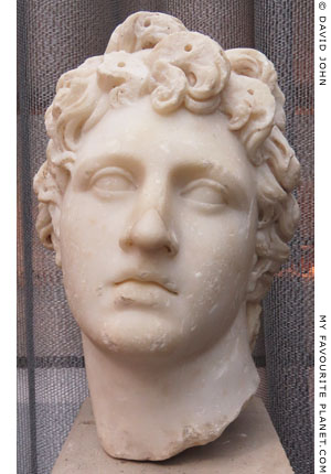 Marble head of a young man of the type of Alexander the Great in Thessaloniki at My Favourite Planet
