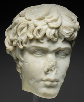 Portrait head of Antinous, Art Institute of Chicago at My Favourite Planet