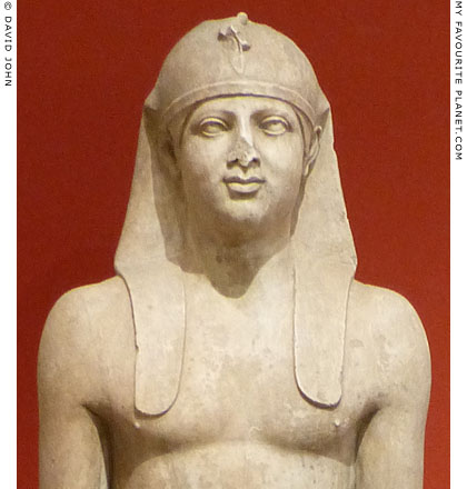 Detail of an Egyptianizing statue of Antinous at My Favourite Planet