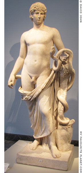 Statue of Antinous as Agathos Daimon at My Favourite Planet