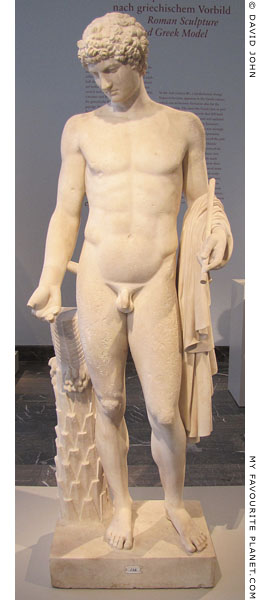An Omphalos Apollo type statue amended as Antinous at My Favourite Planet