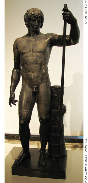 Black marble statuette of Antinous as Dionysus, Altes Museum, Berlin at My Favourite Planet